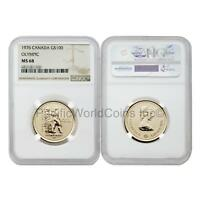 Canada 1976 Olympic 100 Dollars Gold NGC MS68