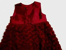 Toddler Girl 2T Burgundy tulle floral dress WENDY BELLISSIMO BOUTIQUE Christmas