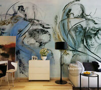Fototapete Tapete Wandbild Vlies Blaue Kugeln F01578 3D Abstraktion NEU