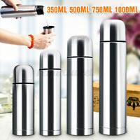 500/1000ml Stainless Steel Water Vacuum Insulated Flask Drinking Cup Warm Bottle