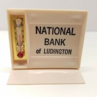 VTG National Bank Of Ludington Michigan Advertising Mini-mometer Thermometer