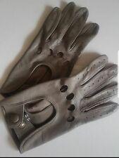 Gants grises en cuir pour femme Galerie Lafayette