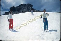 Colorado Snow Pretty Women Fashion 1960s 35mm Slide Vtg Kodachrome Trail Ridge