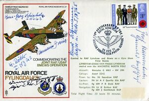 Rossbach RAF cover No15 signed by SIX Luftwaffe aces KAMMHUBER, HUSEMANN + FOUR