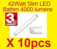 10pcs FLUORO Replacement 42W LED LIGHT ULTRA SLIM PROFILE 5700k 1200mm Batten