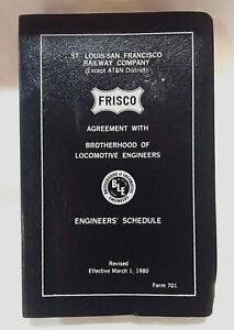 St Louis-San Francisco Railway Company Engineers Schedule, Revised March 1, 1980