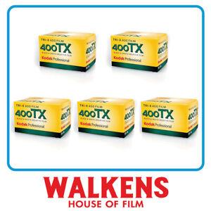 5 ROLLS - Kodak Tri-X 400 35mm 36exp Camera Film - FLAT-RATE AU SHIPPING!