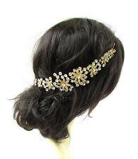 Gold Silver Diamante Hair Vine Bridal Headpiece Headband Rhinestone Wedding 2326