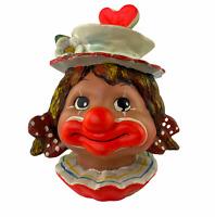 Vintage 1977  Enesco Annette Little Girl Hobo Clown Face Head Coin Piggy Bank