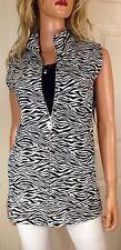 NWT Christine Alexander Swarovski Embellished Sweet Juliet Zebra Vest  Size Med