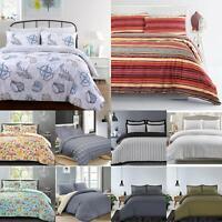 Luxury 100%Cotton Soft Cosy Quilt Duvet Cover Set Single Double Super King Size