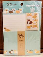 Cute Dog Puppy Corgi Animal Writing Letter & Envelope SET DAISO NEW KAWAII 🐶