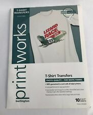 Printworks Light T-Shirt Transfers for Inkjet Printers,New 10 Sheets