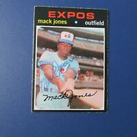 MACK JONES  SIGNED AUTO 1971 O-Pee-Chee # 142  Montreal Expos Atlanta Braves OPC