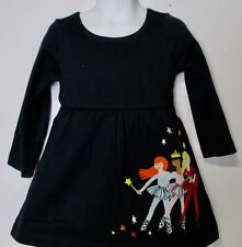 Hanna Andersson Girls Appy Dress Black With Ballet Dancers NWT