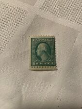US Postage Stamp 1 cent Washington Green Facing left, Rare,original Gum, 1900s