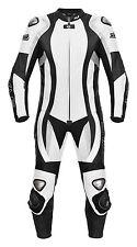 Lederkombi schwarz weiß Einteiler von XLS Motorradkombi in allen Größen erh.