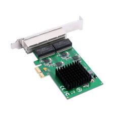 4 Port Gigabit Ethernet Network Card Adapter PCIe X1 Four RJ45 Ethernet Interfa