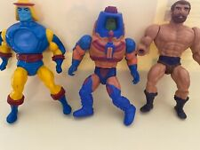 Vintage 1980s He-man Fisto Man E Faces  And Sy Klone