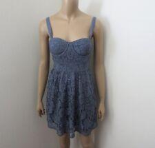 NWT Abercrombie Womens Lace Corset Dress Size XS Blue