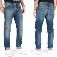 Diesel Mens Slim Fit Medium Light Blue Stretch Denim Jeans   Thommer 089AR