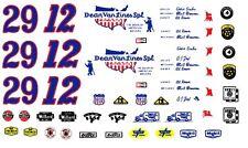 AJ Foyt Eddie Sachs Dean Van Lines Indy 1/64th HO Scale Slot Car Decals