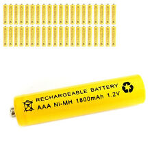 40 pcs AAA 3A 1800mAh 1.2V Ni-MH rechargeable battery Solar Light MP3 RC Yellow