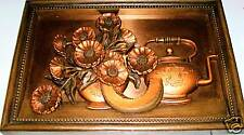 Coppercraft Guild Wall Art Teapot, Flowers-Must See!