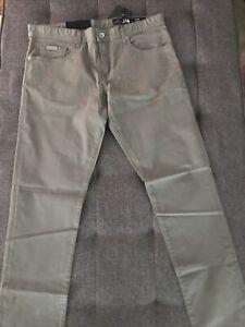 NWT Armani Exchange A|X J14 Men's Skinny Fit Lightweight Gray Chinos 33