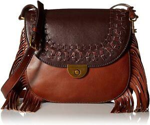Fossil Emi Fringe Large Saddle Bag  Multi Brown ZB6889249