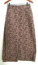 Bobbie Brooks Brown and Pink Paisley Skirt Ladies Size 8 Corduroy Skirt