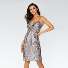 QUIZ SIZE 14 STYLISH SEQUIN WRAP BUST BODYCON OCCASION DRESS BNWT RRP £70 @ NEXT