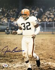 Jim Brown Signed Autographed 11x14 Photo Cleveland Browns Goat HOF Psa/Dna