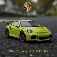 WELLY FX Series 1/24 Scale Die Cast Car Model 2016 Porsche 911 991 GT3 RS Green