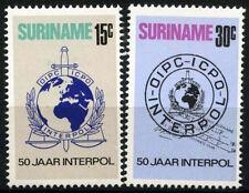 Suriname 1973 SG#754-5 Police Organisation Interpol MNH Set #D34452
