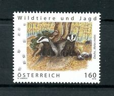 Austria 2016 MNH Badgers Wildlife & Hunting 1v Set Wild Animals Stamps