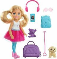 Barbie Chelsea Travel Doll Kid Girl Toy Gift Travel Set Accessories NEW