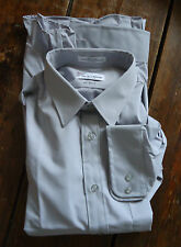NOS VTG Mens 80s SHIRT 16  SMALL COLLAR GEEK CHIC DRESS  PIERRE CARDIN