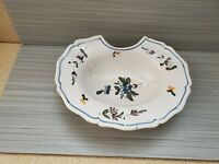 Antique French Faience Barbers Bowl, Shaving Bowl As Found 11'' L ~3'' T
