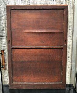 Antique Q-sawn Oak Showcase SLIDING DOOR ONLY reclaimed salvage repair wood part