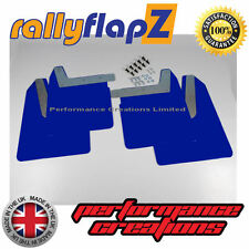 Qty4 Mud Flaps & Fixings SUBARU IMPREZA New Age 01-07 rallyflapZ 4mm PVC Blue