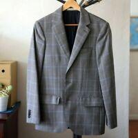 Club Monaco MSRP $349 Gray Houndstooth Check Wool Sport Coat Jacket Blazer 36S