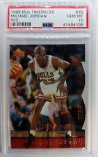 1998 Upper Deck MJX Michael Jordan MJ Timepieces #76 #'d of 2300, PSA 10, Pop 4