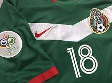 vintage 2006 home nike mexico soccer jersey Andres Guardado el tri L rare kit