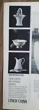 1964 Lenox China Primrose basket during Bowl Milan pitcher ad