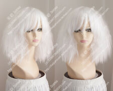 Occident Style White Wig Fluffy Hot Corn Cosplay Wig Hair