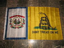 3x5 Gadsden Don't Tread On Me West Virginia State Flag 3'x5' House Banner