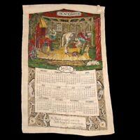 VTG Vintage Linen Calendar 1966 Blacksmith Horse Tapestry