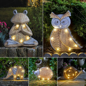Solar Power Outdoor Garden Novelty LED Animal Woodstone Light Up Path Ornament