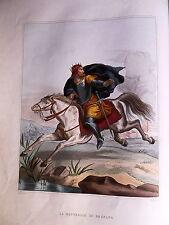 La battaglia di Legnano intaglio miniato 1856 David Passigli  originale